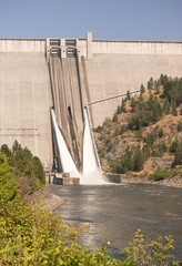 Dworshak Dam Concrete Gravity North Fork Clearwater River Idaho