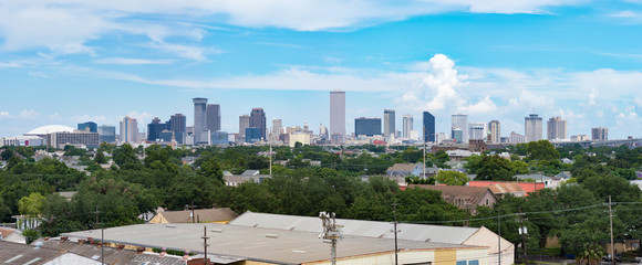 Panorama of New Orleans, Louisiana from Mississippi
