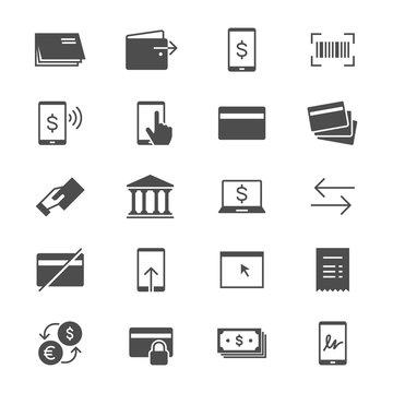 Internet banking flat icons