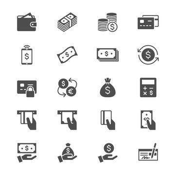 Money flat icons