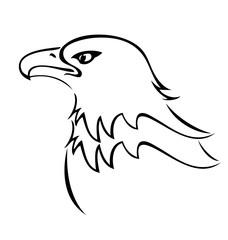 Bald eagle mascot silhouette icon vector