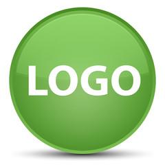Logo special soft green round button
