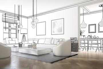 Raumadaptation: Wohnzimmer (Planung)