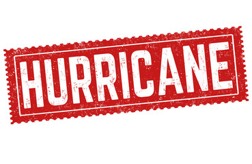 Hurricane sign or stamp