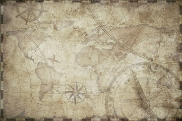 treasure map toned background illustration