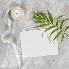 Flat lay design of blank paper