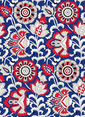 Traditional Indian floral pattern