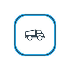 Vector Illustration Of Truck Outline. Beautiful Structure Element Also Can Be Used As Lorry Element.