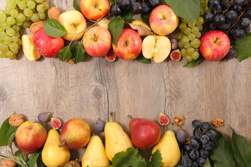 assorted autumn fruits