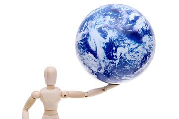 惑星と木の人形 Wall mural
