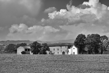 Country landscape near Castell'Arquato