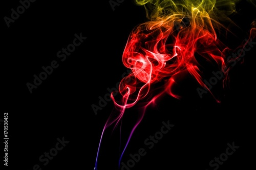 Abstract Color Smoke On Black Background Smoke Background
