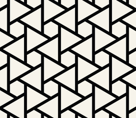seamless geometric triangle hexagon grid pattern