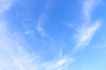 Blue sky and cloudy in the morning.
