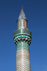 The Green Mosque minaret in iznik (Nicaea), Bursa, Turkey