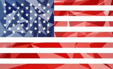 Low Poly USA Flag