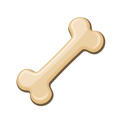 Bone. Pet Toy on White Background. Vector