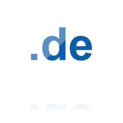 farbiges Symbol - .de-Domain dick