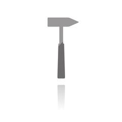 farbiges Symbol - Hammer