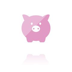 farbiges Symbol - Sparschwein