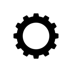 Cogwheel or gear icon. Simple cog wheel for industrial mechanism. Vector Illustration