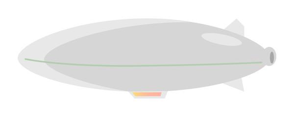 Airship Grey Balloon Aerostat Isolated on White