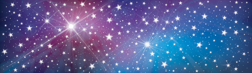 Vector starry, sparkle, holiday background.