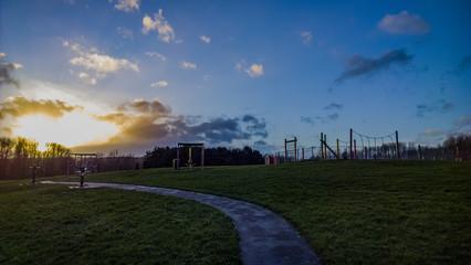public park open space grass field recreation space