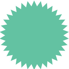 Vector starburst, sunburst badge. Vintage  label, sticker.