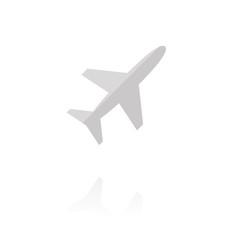 Farbiges Symbol - Flugzeug
