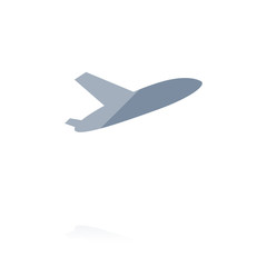 Farbiges Symbol - abhebendes Flugzeug