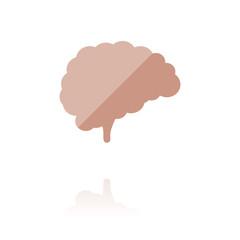 Farbiges Symbol - Gehirn