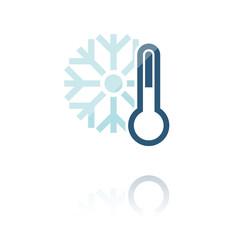 farbiges Symbol - Temperatur-Anzeige