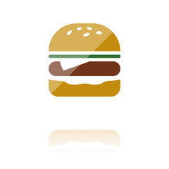 farbiges Symbol - Burger