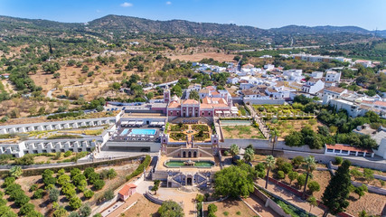 Estoi, Portugal - Setembro, 02. 2017: Estoi Palace and garden Estoi, Algarve, Portugal, Faro