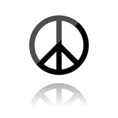 farbiges Symbol - Peace-Symbol