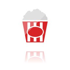 farbiges Symbol - Popcorn
