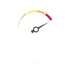 farbiges Symbol - Tachometer