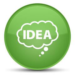 Idea bubble icon special soft green round button