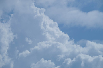 cloud on blue sky background