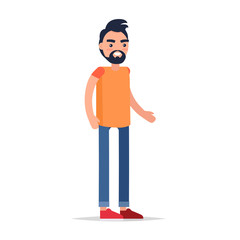 Male Cartoon Character Isolated Illustration
