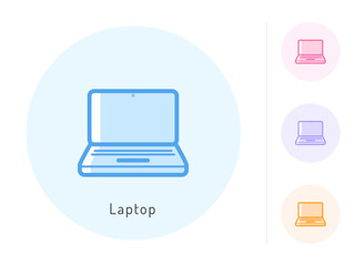 Laptop  icon vector. Laptop symbol for your web site design, logo, app. One of a set of linear electronics icons.
