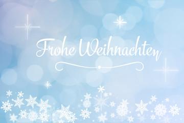 Postkarte mit Frohe Weihnachten Text