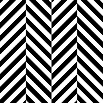 Zigzag chevron seamless pattern background. Alternate black and whitce color. Vector illustration.
