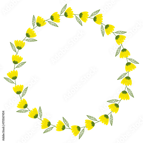 Yellow Flower Wreath Stock Image And Royalty Free Vector