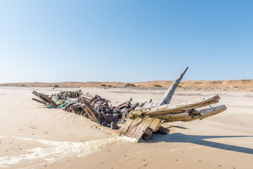 Shipwreck Benguela Eagle, which ran aground in 1973