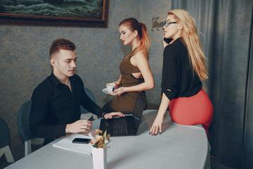 three beautiful businesspeople
