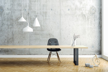 3d render image of beautiful clean interior design