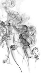 Abstract black smoke on white background, smoke background,black ink background ,black and white ,B&W