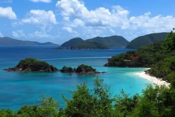 Trunk Bay famous snorkel spot on St. John, USVI, US Virgin Islands, Caribbean